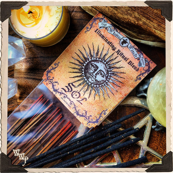 SOL RITUAL INCENSE. 20 Sticks. Blessed by Carnelian & Citrine. For Illumination & New Growth.