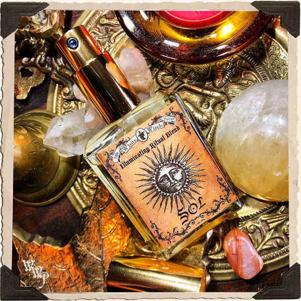 SOL RITUAL OIL. 1oz. For Illumination, Happiness & New Growth.