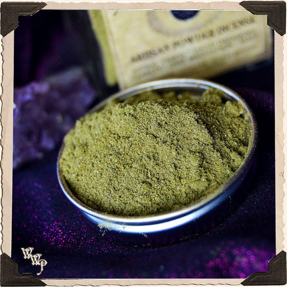 SOMNIUM LUCIDUS Powder Incense. All Natural. Blessed with Amethyst for Astral Travel & Lucid Dreaming