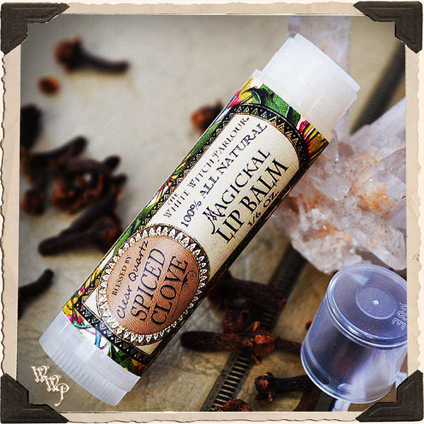 SPICED CLOVE Lip Balm All Natural. Blessed by Clear Quartz Crystal.