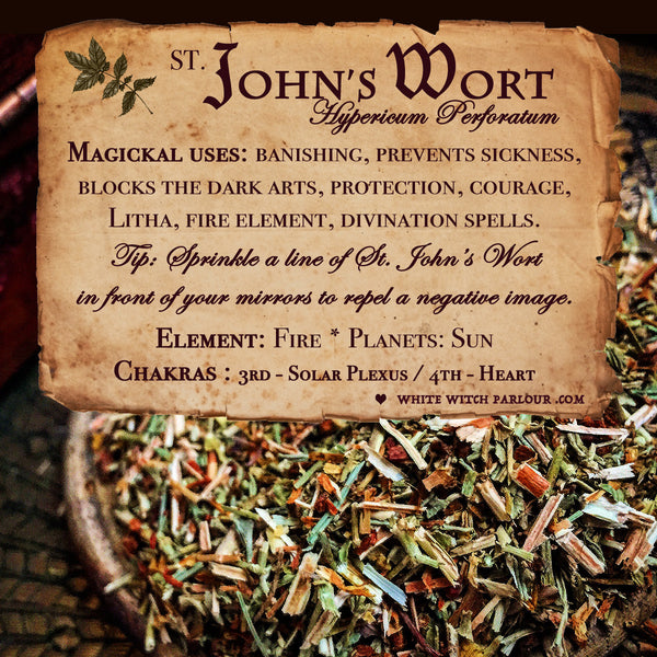 ST. JOHN'S WORT APOTHECARY. Dried Herbs. For Protection, Sun Energy, Depression & Happiness.