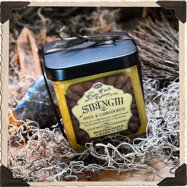 STRENGTH Elixir Apothecary CANDLE 7oz. For Courage, Emotional Protection & Inspiration.