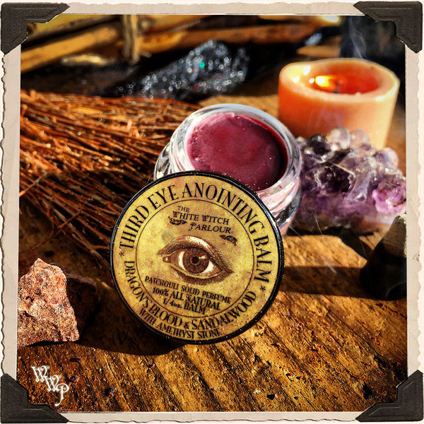 Third Eye Anointing Balm. 1/4 oz. All Natural Solid Perfume. For Spiritual Awakening & Strengthened Manifestations.