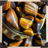 TIGER'S EYE TUMBLED CRYSTAL. For Courage, Stability & Protection.