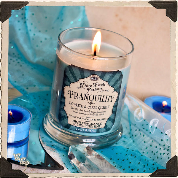 TRANQUILITY Elixir Apothecary CANDLE 7oz. For Peace, Calmness & Enlightenment.