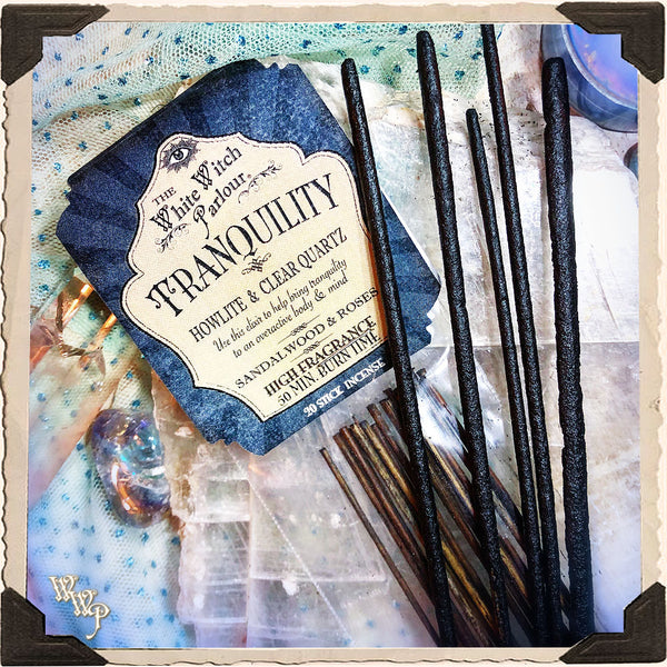 TRANQUILITY INCENSE. 20 Stick Pack. For Peace, Calmness & Enlightenment.