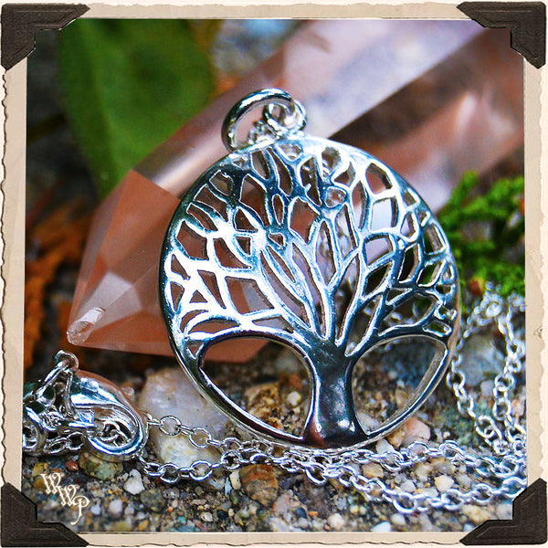 TREE OF LIFE NECKLACE. Sterling Silver Talisman for Spiritual Journey, Soul Growth & Life Path.