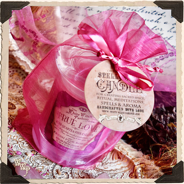 TRUE LOVE Elixir Apothecary CANDLE 7oz. For Heart, Self Love & Trust.