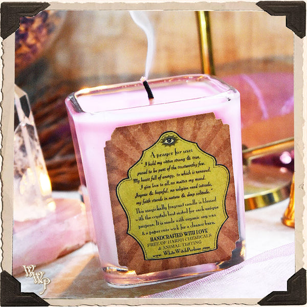 VIRTUE Elixir Apothecary CANDLE 7oz. For Beauty, Good Faith & Gentleness.