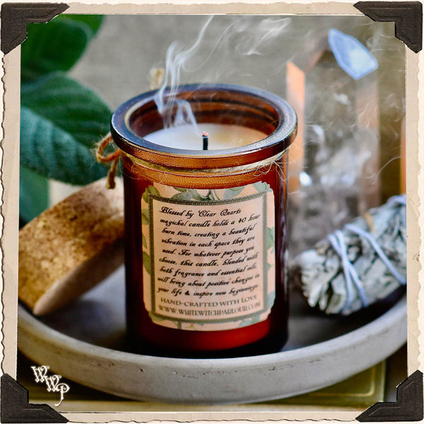 WHITE SAGE CANDLE APOTHECARY 5oz.For Wishes, Energy Clearing & Ceremony Work.