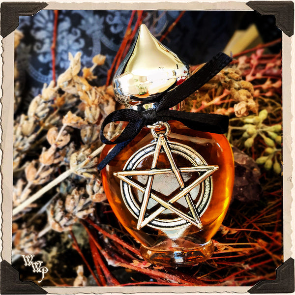 WITCH CRAFT All Natural Alchemy Oil Potion 1/3oz. Clove, Lavender, Birch Tar & Anise. Blessed by Smoky Quartz, Garnet & Amethyst. For Protection & Spiritual Advancement.