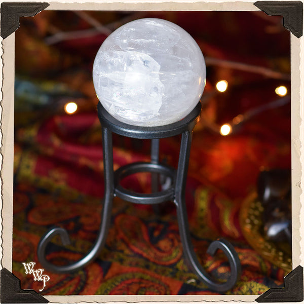 WROUGHT IRON SPHERE STAND / BASE. Altar Decor For Witchy / Pagan Aesthetic.