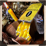 YELLOW SPELL CANDLES. 13 Pack - Unscented. Mini Taper Candle Magick for Sun Energy & Solar Plexus.