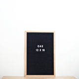 12 X 18 OAK FRAME, BLACK FELT LETTERBOARD - RIVI co. letter boards