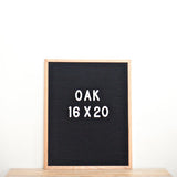 16x20 OAK FRAME, BLACK FELT LETTERBOARD - RIVI co. letter boards