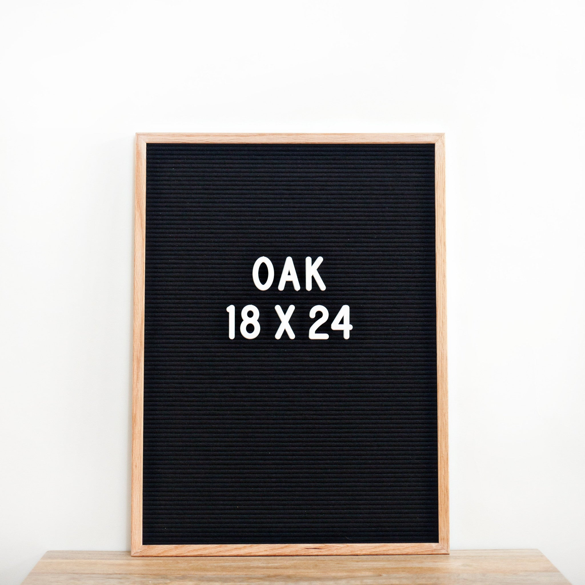 18 x 24 OAK FRAME, BLACK FELT LETTERBOARD – RIVI co. letter boards