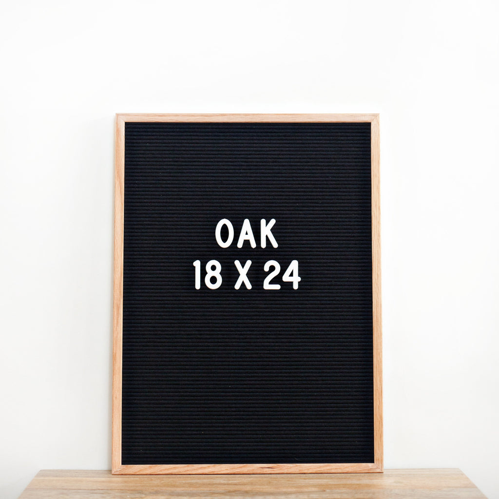 18 x 24 OAK FRAME, BLACK FELT LETTERBOARD - RIVI co. letter boards