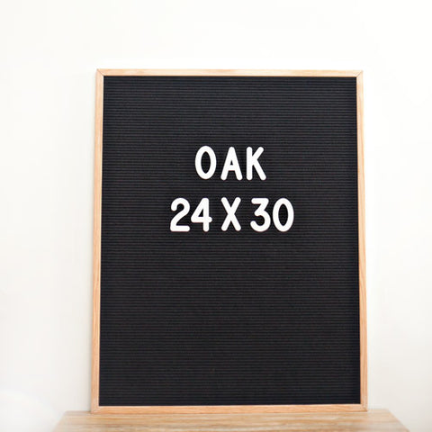 24 x 30 OAK FRAME, BLACK FELT LETTERBOARD - RIVI co. letter boards