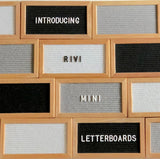 MINI OAK FRAME FELT LETTERBOARD and LETTER SET - RIVI co. letter boards