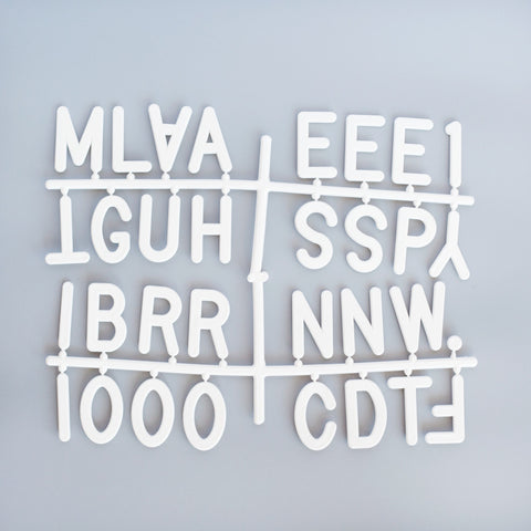 "2"" LETTERS - 145 CHARACTER LETTER SET - RIVI co. letter boards"