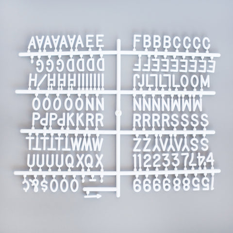 "3/4"" HELVETICA LETTER SET - 290 CHARACTERS"