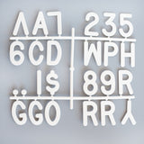 "3"" LETTERS - 145 CHARACTER LETTER SET - RIVI co. letter boards"