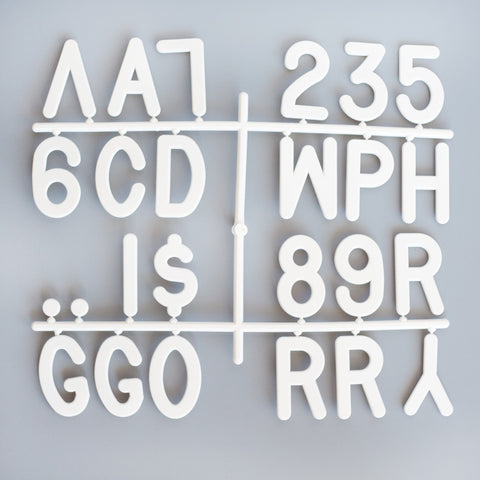 "3"" LETTERS - 145 CHARACTER LETTER SET"