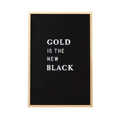12 X 18 GOLD METAL FRAME, BLACK FELT LETTERBOARD - RIVI co. letter boards