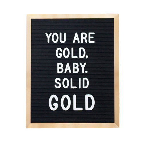 16x20 GOLD METAL FRAME, BLACK FELT LETTERBOARD - RIVI co. letter boards