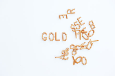 "GOLD 1"" LETTERS - 290 CHARACTER LETTER SET"
