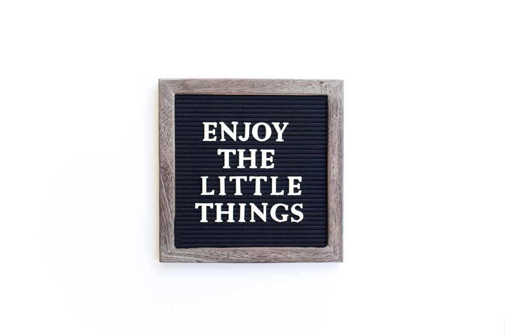 10 x 10 RECLAIMED WOOD FRAME, BLACK FELT LETTERBOARD - RIVI co. letter boards