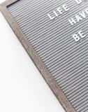 12 x 18 RECLAIMED WOOD FRAME, GREY FELT LETTERBOARD - RIVI co. letter boards