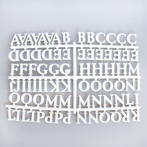 "1"" ROMAN 145 LETTER & CHARACTER SET - RIVI co. letter boards"