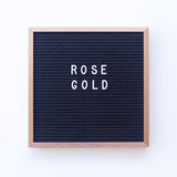 10 x 10 ROSEGOLD METAL FRAME, BLACK FELT LETTERBOARD - RIVI co. letter boards