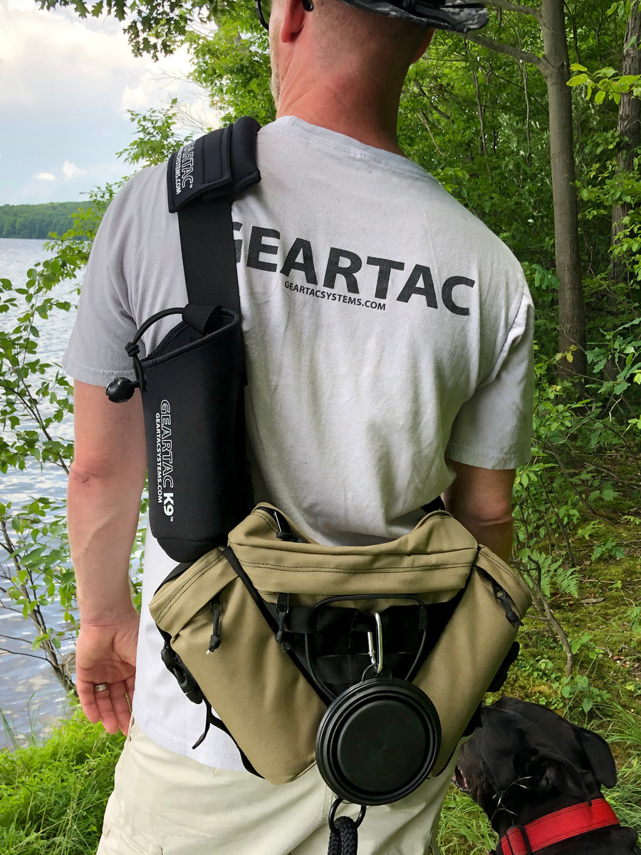 gearpac hands free sling bag and leash holder