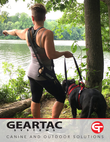 geartac flipbook of hands free dog products