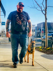dog training with the hands free dog walking device