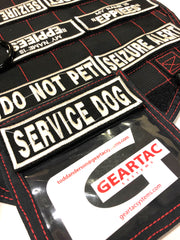 service dog patch systems and molle attachment