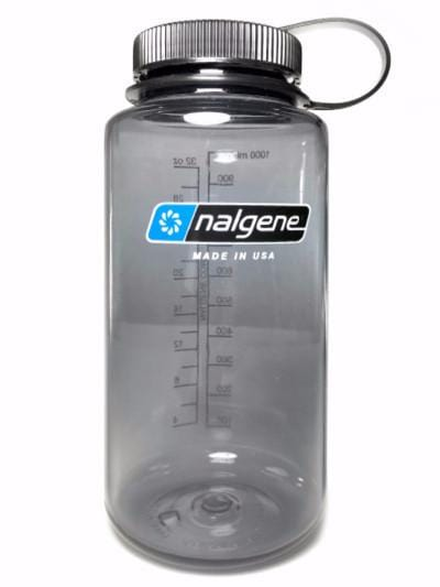 NALGENE WIDE MOUTH 32OZ. WATER BOTTLE grey w/ black lid