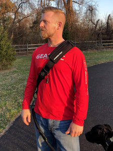 The Geartac Systems Power Pad adds even more comfort to the hands free dog leash by giving you more shoulder strength