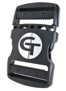 "gearbuckle is a 2"" ykk double adjust side release buckle with a 500lb. load rating"
