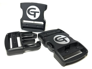 "gearbuckle is a 2"" ykk double adjust side release buckle with a 500lb. load rating and super heavy duty closure"