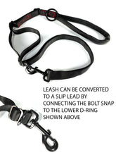 Load image into Gallery viewer, gearleash extreme is the ultimate adjustable sport dog leash with built in slip lead