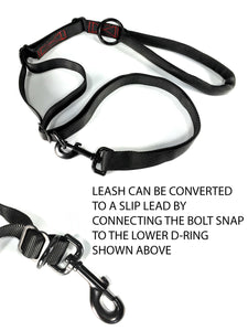 gearleash extreme is the ultimate adjustable sport dog leash with built in slip lead