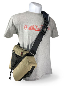 gearpac hands free dog walking sling bag with all the gear you need to walk your dog with your favorite dog leash
