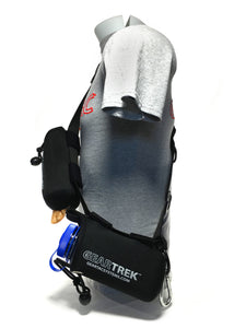 geartac extreme is the modified sports version of the geartac k9 hands free dog walking unit with both waste management and water bottle holders, great for fitness, hiking, camping and any athletic lifestyle utilizing form fitting style
