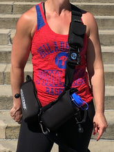 Load image into Gallery viewer, geartac extreme is the modified sports version of the geartac k9 hands free dog walking unit with both waste management and water bottle holders, great for fitness, hiking, camping and any athletic lifestyle.