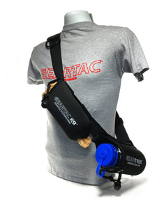 geartac extreme is the modified sports version of the geartac k9 hands free dog walking unit with both waste management and water bottle holders, great for fitness, hiking, camping and any athletic lifestyle with two separate storage pouches