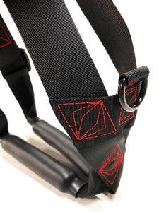 Geartac Systems XBody heavy duty dog harness with handle and padded lower leg protection