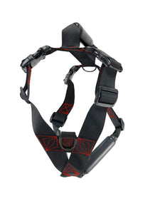 Geartac Systems XBody heavy duty dog harness with handle and true breast plate design